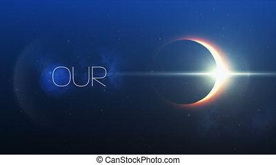 sauver, planète, éclipse, solaire, locution, notre