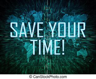 sauver, ton, temps