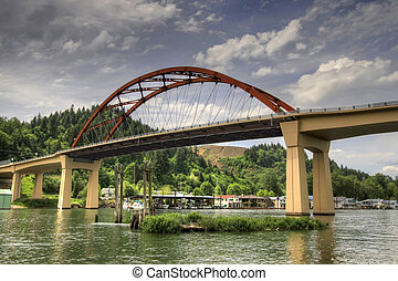 sauvie, νησί , γέφυρα