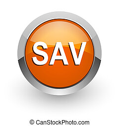 sav orange glossy web icon