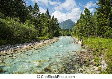 Sava Dolinka river, Slovenia - Sava Dolinka river near...