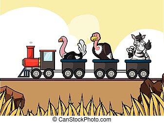 savanah, γύρος , τρένο , κυνηγετική εκδρομή εν αφρική