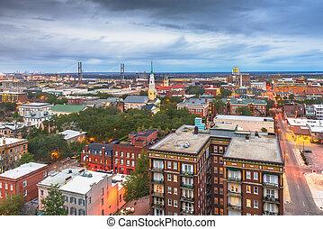 Savannah, Georgia, USA Downtown