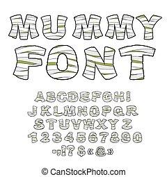 savant, ancien, ponctuation, zombi, alphabet., égyptien, ...