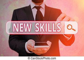 savant, capacités, texte, nouveau, signification, skills., ...