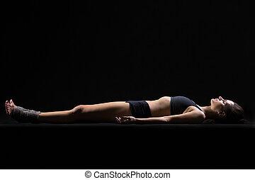 savasana, pose, yoga