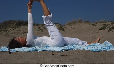 Savasana woman yoga
