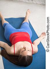 savasana, yoga, indoors: