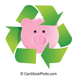 save and recycle illustration design
