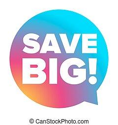 Save Big vector label