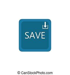 Save button design vector icon