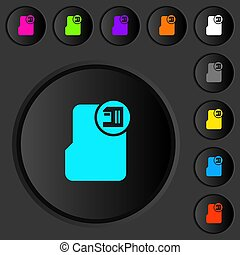 Save directory dark push buttons with color icons