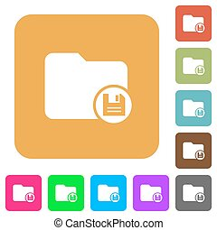 Save directory rounded square flat icons