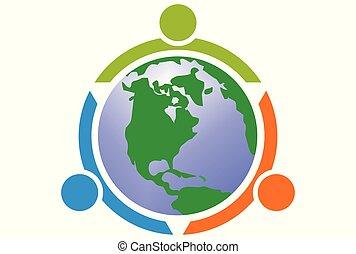 save eart world people logo