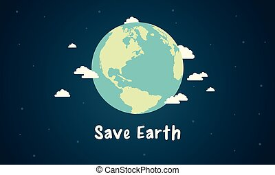 Save Earth design style