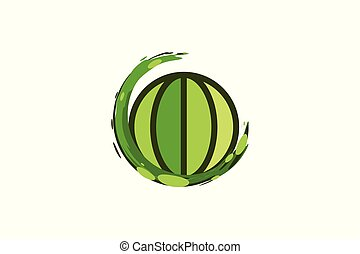 save earth, globe Logo Designs Inspiration Isolated on White Background