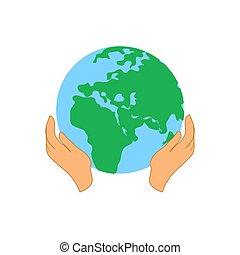 Save earth logo design template. save globe