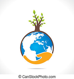save earth or go green concept