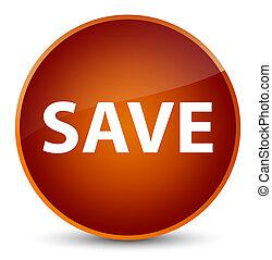 Save elegant brown round button