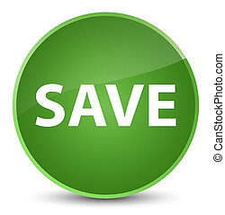 Save elegant soft green round button