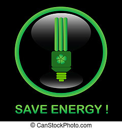 Save energy icon, eps8 - Save energy icon