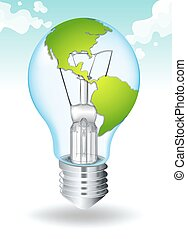 Save energy with earth and light