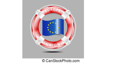 Save Europe Union - Illustration of a need to put a...