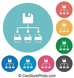 Save file as multiple format flat round icons - Save file as...