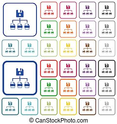 Save file as multiple format outlined flat color icons - ...
