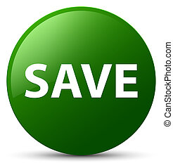 Save green round button