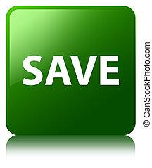 Save green square button