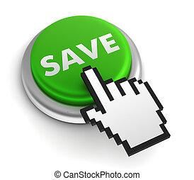 save keyboard concept 3d illustration