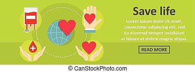 Save life banner horizontal concept