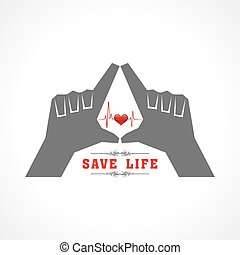 save life concept