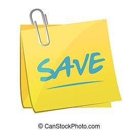 save memo post illustration design