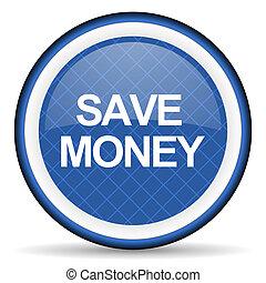 save money blue icon