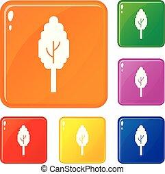 Save money bulb icons set vector color