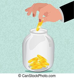 save money concept, vector illustration