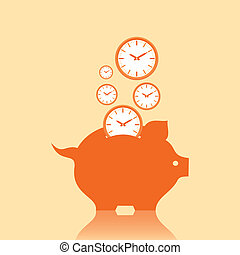 Save money concept with piggy bank
