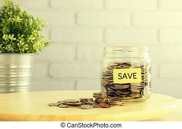 Save money financial planning retro style