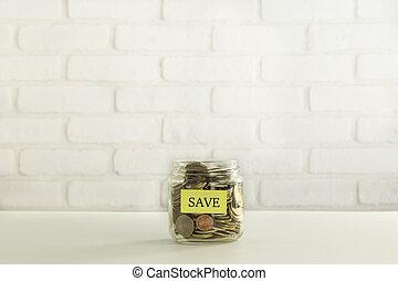 Save money for bank deposit