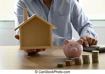 Save money for home cost saving account book or financial ...