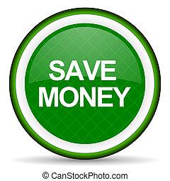 save money green icon