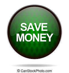 save money green internet icon