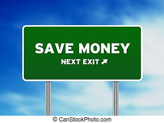 Save Money Highway Sign