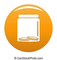 Save money icon orange