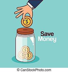 save money jar icon