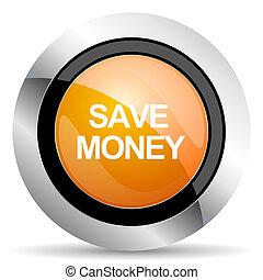 save money orange icon