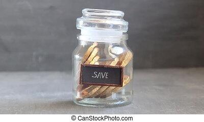 save money retro concept