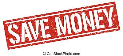 save money square grunge stamp